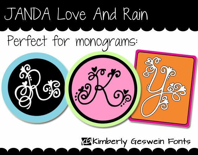 Janda Love And Rain Fuente Fuentes Del Monograma Descarga De Fuentes Fuentes