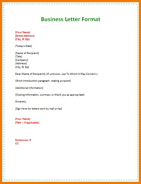 sample business letter for students format example samples word pdf