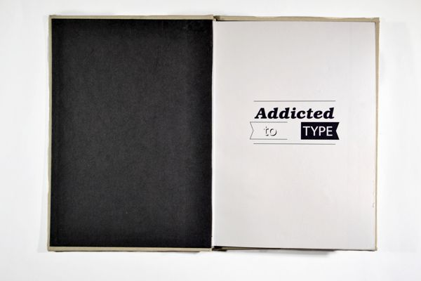 Addicted to Type - First Page by Nick Beel, via Behance