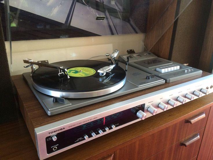 Vintage Toshiba Sm3500 1976 Music Centre Hi Fi Mint And
