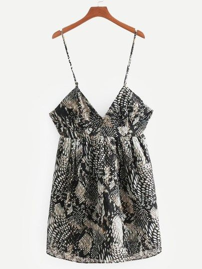 Snakeskin Print Cami Dress  1590a6b63