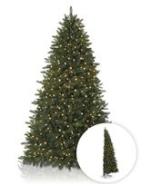 the half christmas tree is flat on the back to fit smoothly against a wall great for small spaces fifth avenue flatback artificial christmas tree - Flat Back Christmas Tree