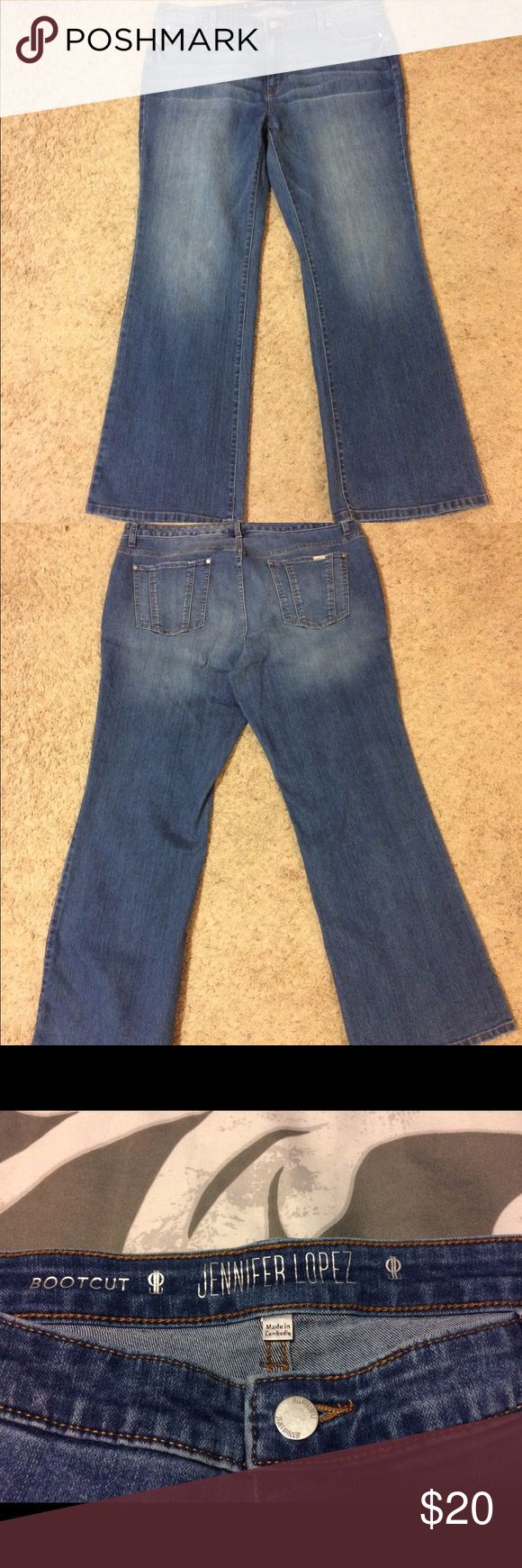 "Jennifer Lopez Jeans Bootcut jeans by Jennifer Lopez. Worn only a couple times. Size 18W short.  I am 5'6"" and they fit just right with boots. Jennifer Lopez Jeans Boot Cut"