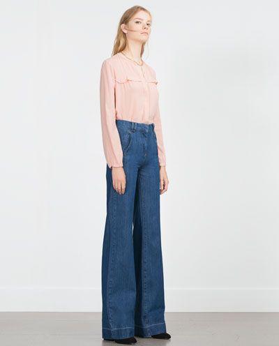 pantaloni-jeans-palazzo-anni-70-trend-inverno-2016-closeupblog-la-cellini-francesca-cellini winter pants: 5 trends to follow.What is your favorite? http://www.closeupblog.com/archives/2708