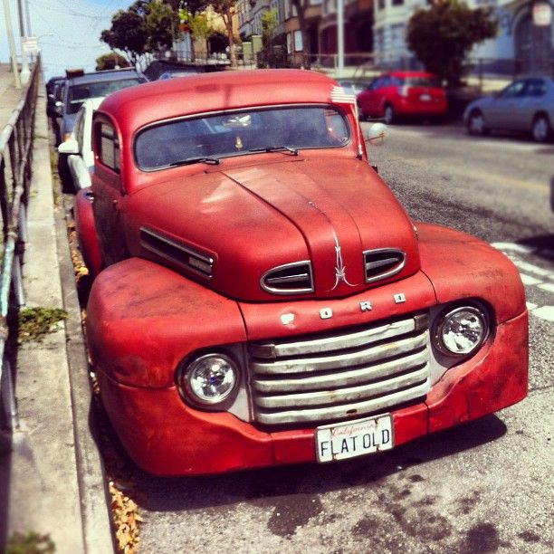 Ford red old truck pinstripped Want this old Ford