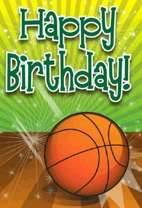 Anyone who likes sports is sure to love this birthday card, with a graphic of a basketball on the front. Free to download and print