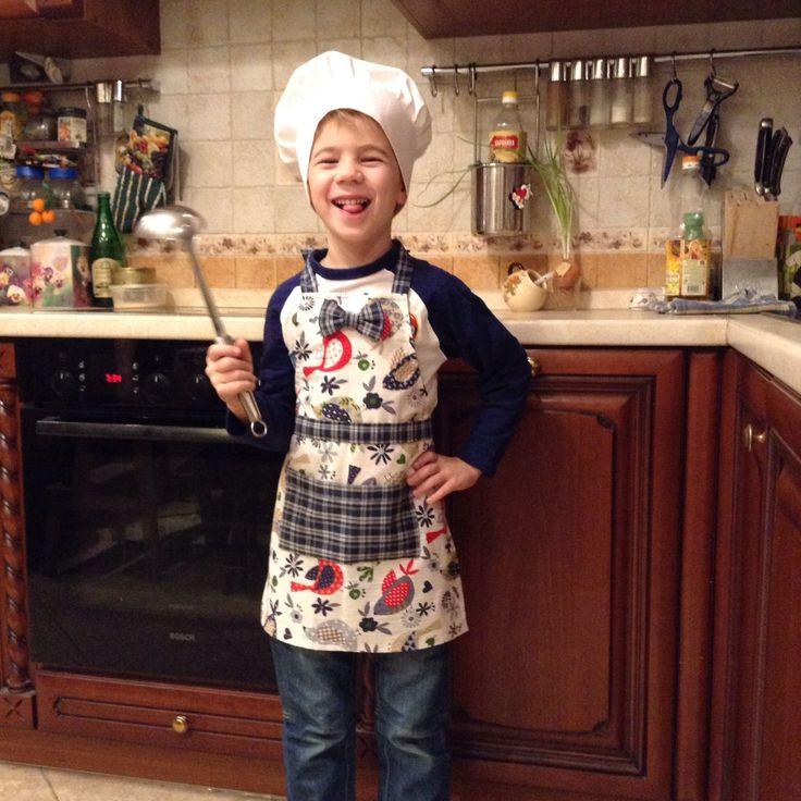 Купить Фартук для мальчика. - фартук, передник, фартук для мальчика, мамин помощник, фартук для кухни