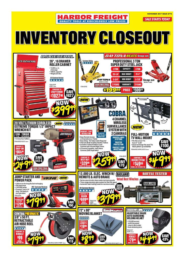 Harbor Freight Tools Ad November 2017 - http://www.olcatalog.com/harbor-freight-tools/harbor-freight-tools-weekly-flyer.html