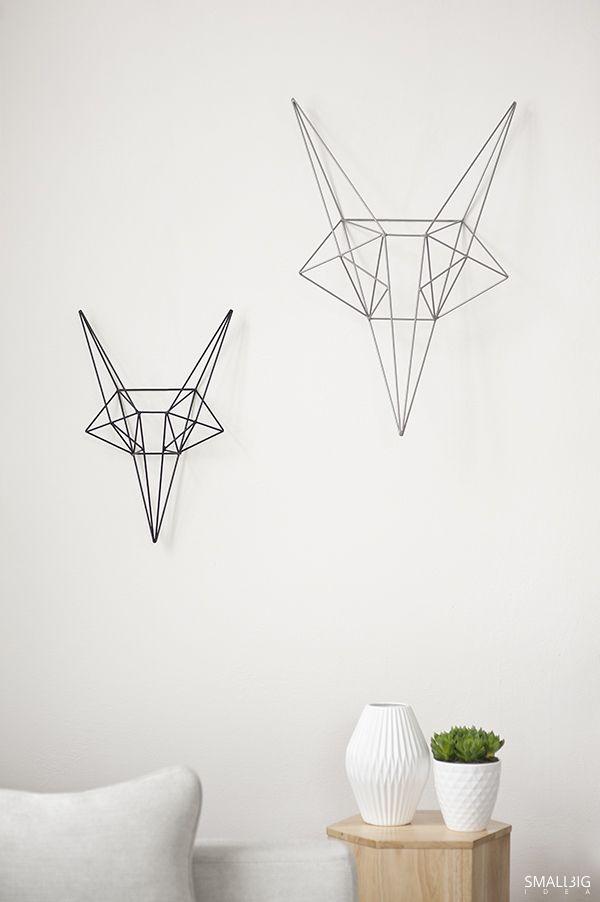 © smallbigidea.com geometrical interior. wire sculptures.