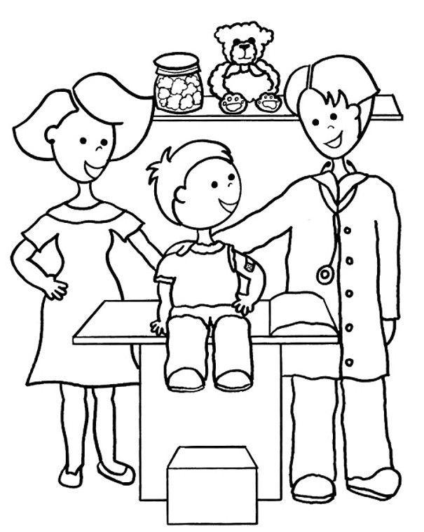 Meslekler Boyama Sayfaları 2 - Okul Öncesi Etkinlik Faaliyetleri - Madamteacher.com