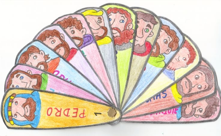 Jesus 12 Disciples Craft Fan
