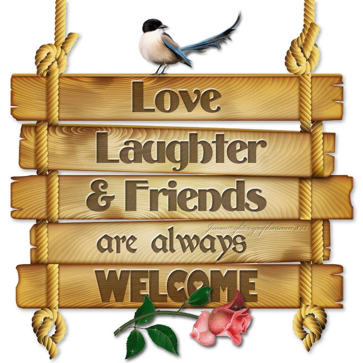 Love, Laughter & Friends are Always Welcome friends friendship quotes teddy bear friend quote thinking of you friend greeting friend poem friends and family quotes i love my friends