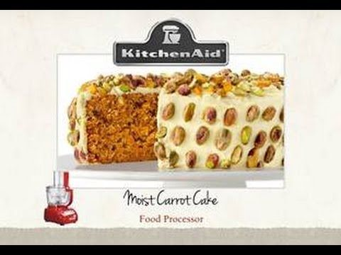 Moist Carrot Cake with the KitchenAid Artisan Food Processor - YouTube