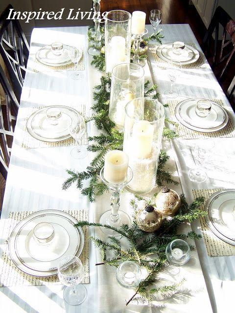 White & Silver Christmas Tablescape