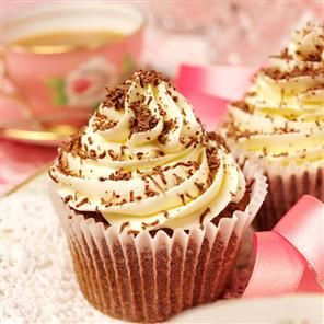 Cappuccino cupcakes recipe. Actress Patsy Kensit's cupcake recipe is to highlight Macmillan Cancer Support's World's Biggest Coffee Morning – a great excuse for coffee and a cake whilst making money for charity.