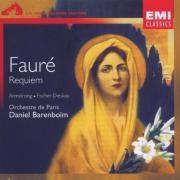 Gabriel Fauré Requiem, Op. 48 / Pavane, Op. 50 (Orchestre de Paris feat. conductor: Daniel Barenboïm, soprano: Sheila Armstrong, baryton: Dietrich Fischer-Dieskau, organ: Henriette Puig-Roget) Cover