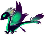 Mist the shadow dragon, age 8, click for habitat info