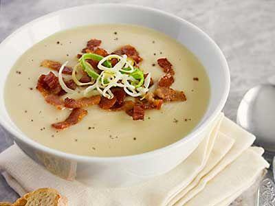 Mosterdsoep met spekjes en recept van ouderwetse mosterdstip