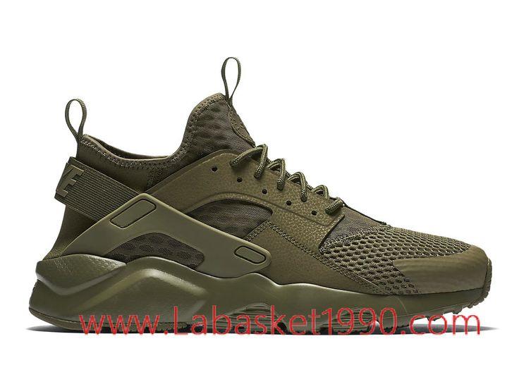Nike Air Huarache Run Ultra Breathe 833147_200 Chaussures Nike Prix Pas  Cher Poru Homme Brun