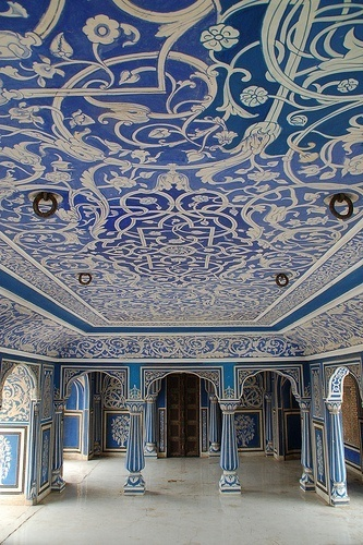 Blue Room, City Palace. Jaipur, India.tourism places in india | attraction of tourism in india | top tourist attractions in india