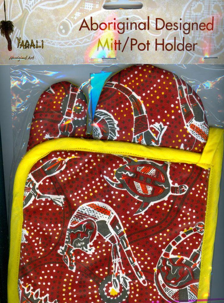 Aboriginal design Oven Mit & Pot Holder (various designs) $8.00 SPECIAL 2 for $15.00