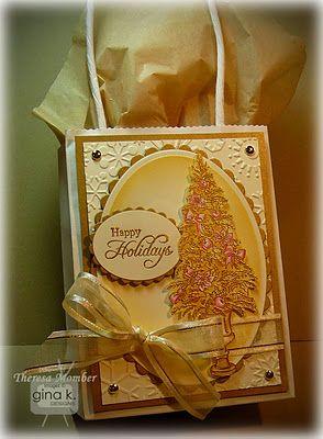 The Idea Center: Ivory & Gold Christmas Gift Bag