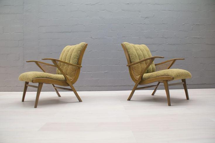 Mid-Century Green Armchairs, 1950s, Set of | vintage armchairs