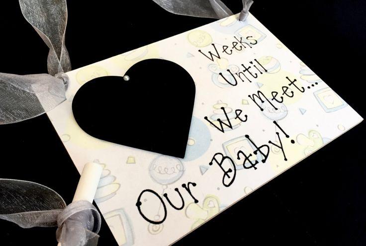 """Baby Countdown Gift, """"Weeks Until..We Meet Our Baby!"""", Baby Countdown by CountdownChalkboards on Etsy"""