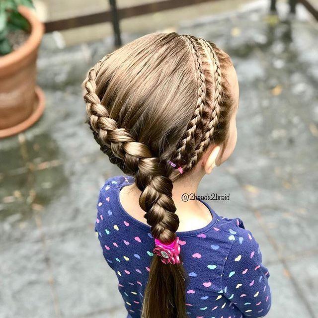 70 Niedliche Flechtfrisuren Kinder Peinados Con Trenzas Trenzas De Ninas Peinados