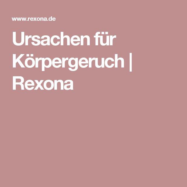 Ursachen für Körpergeruch | Rexona