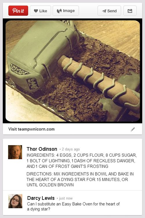 If he gets a Tumblr, he'll need a Pinterest to help bookmark good ideas. | What Happens When Thor Discovers The Internet?
