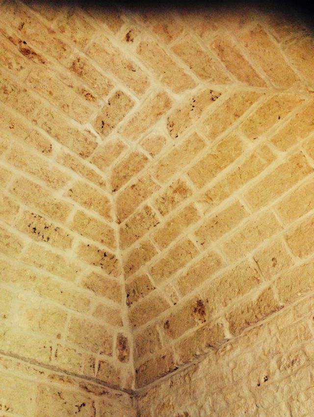The beautiful vaulted ceilings. Masseria Cervarolo