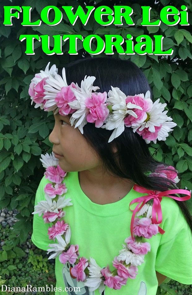 Making a flower lei is much easier than it looks. See how I made a floral necklace with fresh flowers. Great for graduation, mothers day, or weddings.