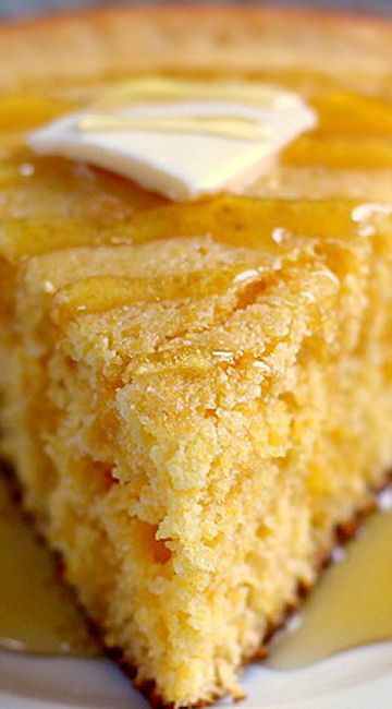 Skillet Buttermilk Cornbread ~  soft, moist, and contains a buttery crust