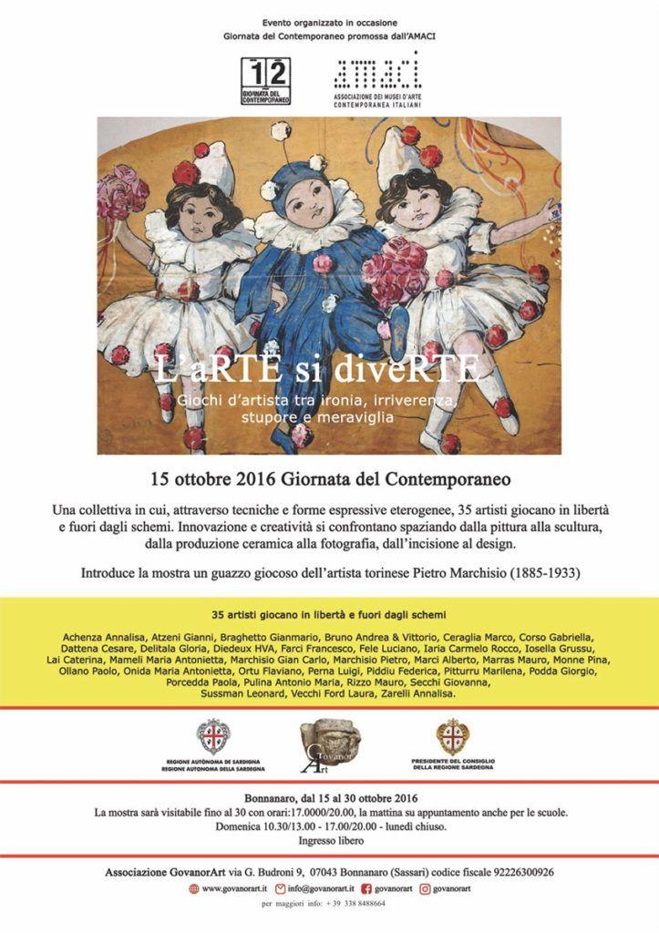 Marco Ceraglia espone alla Giornata del Contemporaneo a Bonnanaro (SS)