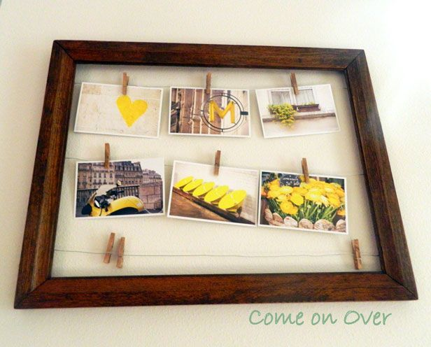 Turn An Empty Frame Into A Display For Multiple Photos! See More Empty Frame  Ideas