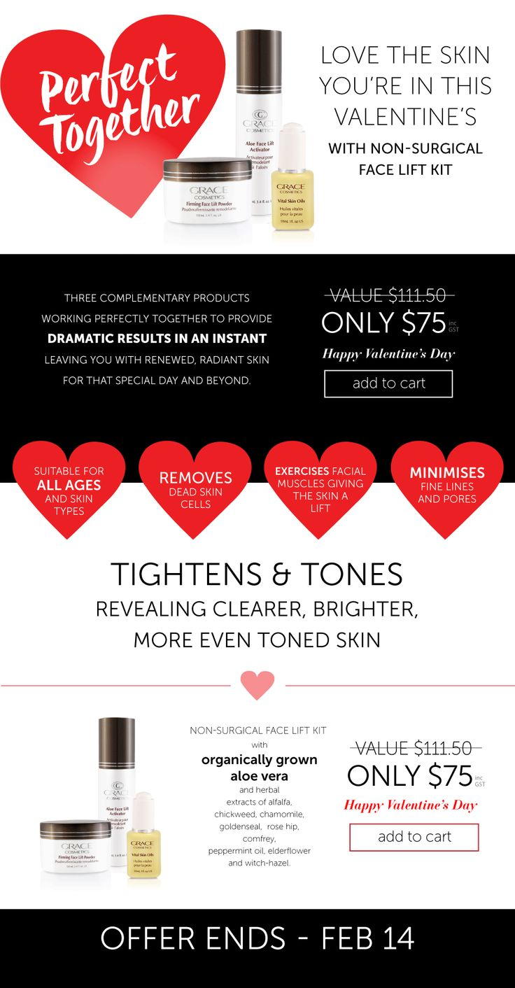 Valentine's Day Special #ValentinesDay #SkinCare #FaceLift #Tighter #Toner #Younger #Skin #Treatment #Natural #Organic #NoNeedles #Botanical