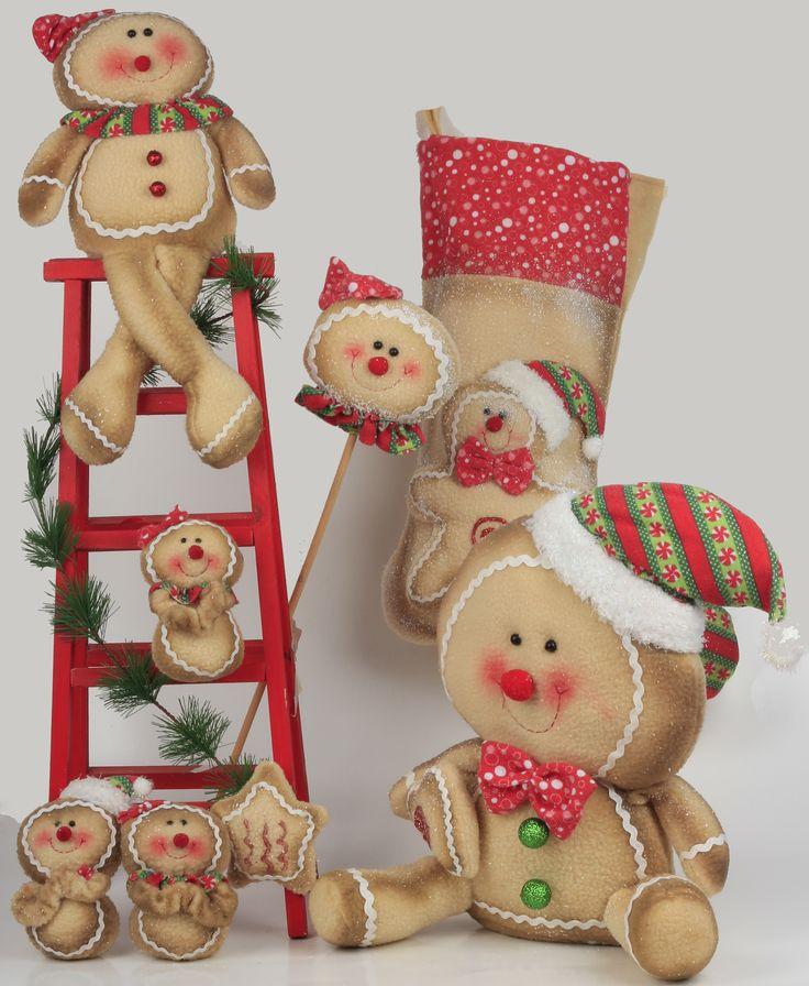 Nueva linea navide a de mu ecos de jengibre navidad - Munecos de navidad ...