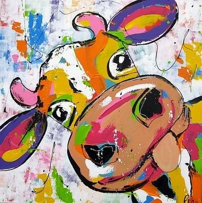 Liz, Vrolijke koe  90 x 90