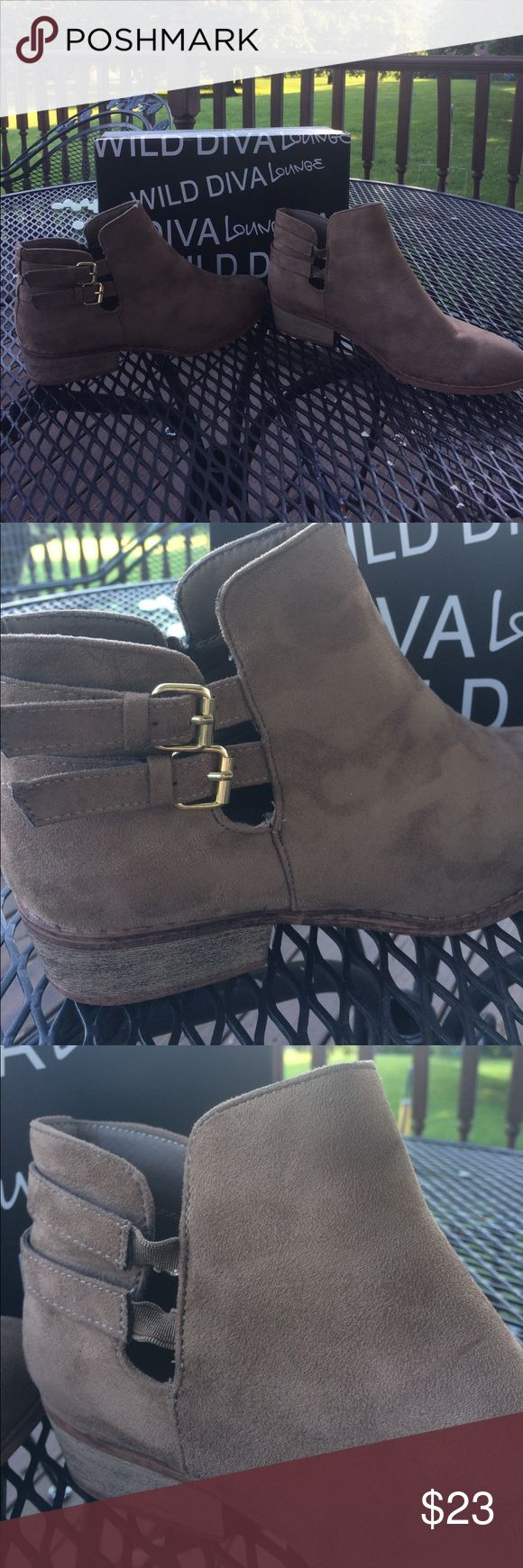Wild Diva boots EUC.  Only worn a handful of times.  The stickers are still on the bottom of the boots.  Offers welcomed 🐝 Shoes Ankle Boots & Booties