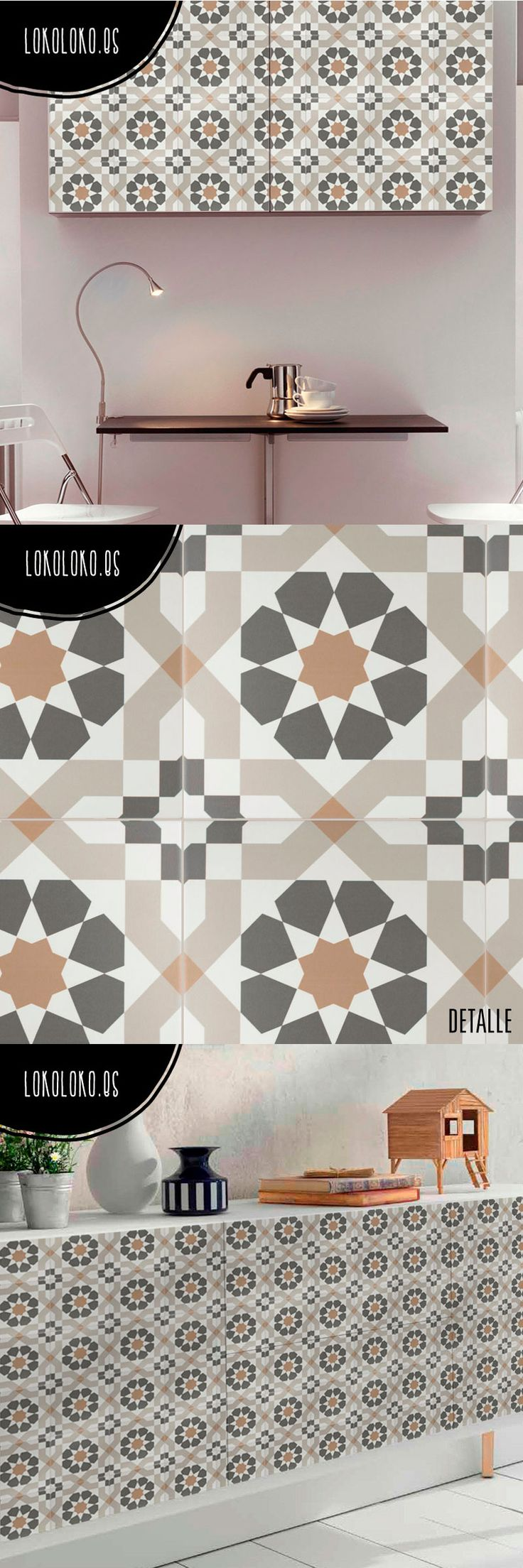 M s de 25 ideas incre bles sobre vinilos para azulejos en for Forrar azulejos cocina