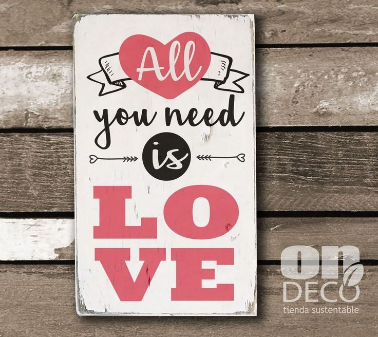 Cartel vintage | All you need is love - ONDECO