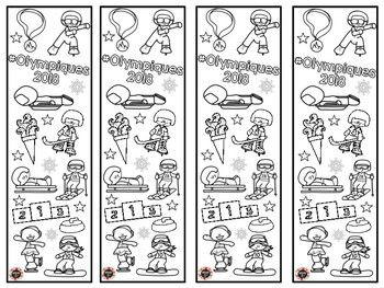 Voici des signets à colorier pour vos élèves sur le thème des Jeux Olympiques.