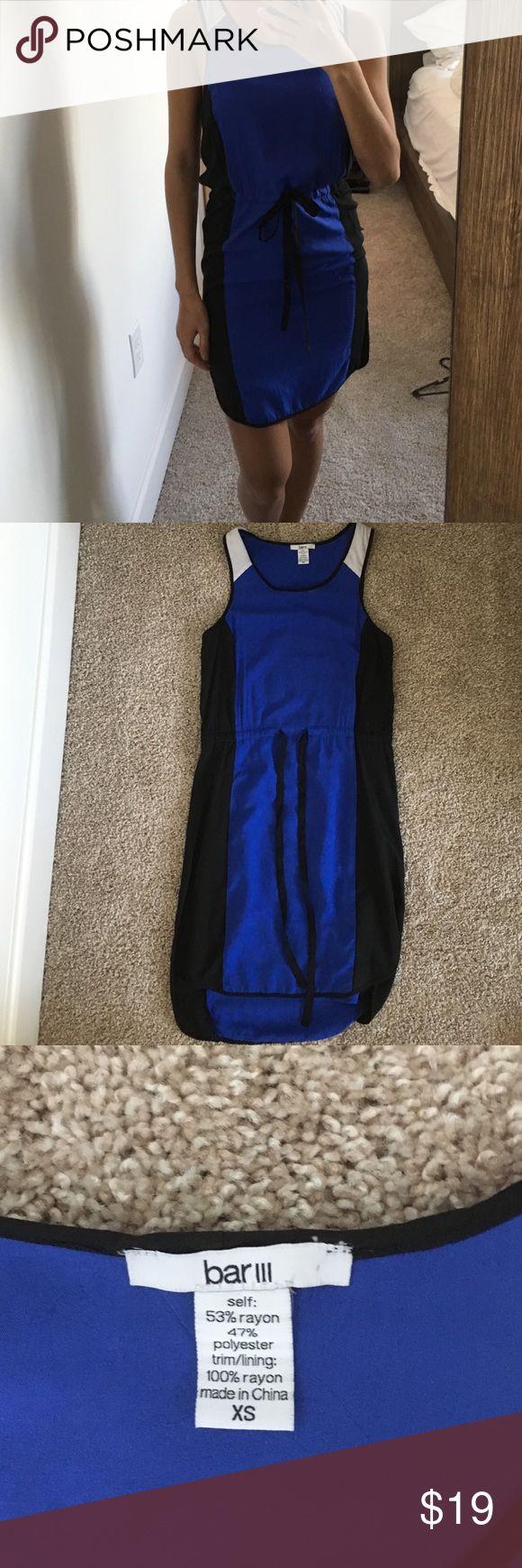 Bar lll. Color block dress Bar lll. Blue/black color block dress. Beautiful, dressy material. Bar III Dresses