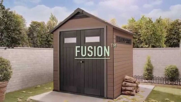 Wood Plastic Composite Shed: Keter FUSION sheds