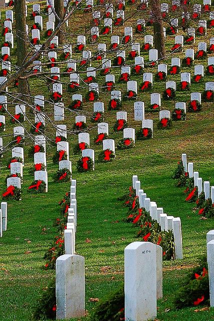 to respect their memories                        U.S.A. Arlington Cemetary in December |