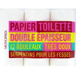 Papier toilette blanc double épaisseur très doux / 2,99 €