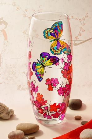 stained glass vase painting - crafts ideas - crafts for kids