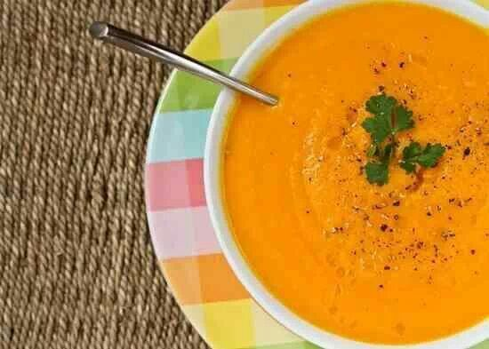 Carrot Apple Ginger Soup | Vegetarian Cuisine | Pinterest