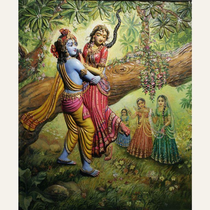 Krsna Catching Radha